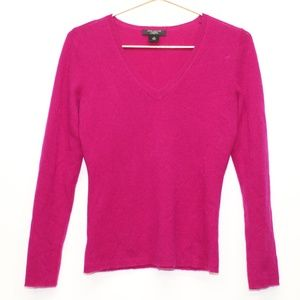 Ann Taylor Cashmere Magenta Sweater